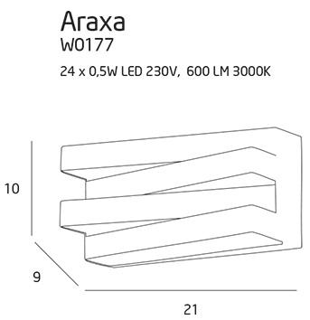 Nástěnné svítidlo Maxlight Araxa, bílé, W0177