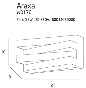 Nástěnné svítidlo Maxlight Araxa, černé, W0178