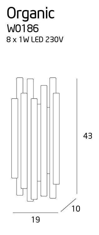 Nástěnné svítidlo Maxlight ORGANIC  CHROM, W0186