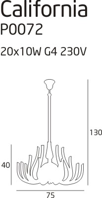 Závěsné svítidlo Maxlight California, P0072