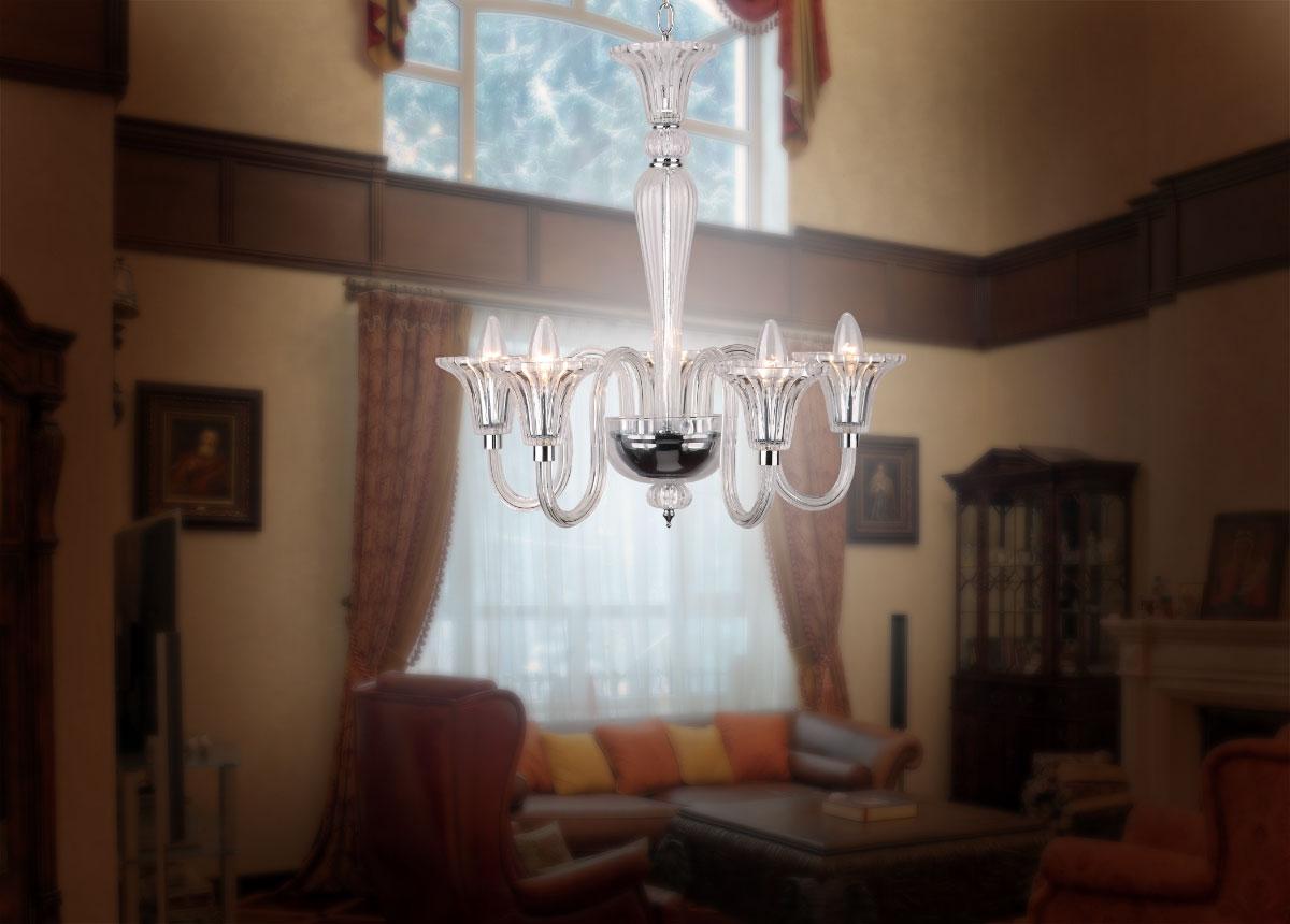 Závěsný lustr Maxlight Bach 0093-5A