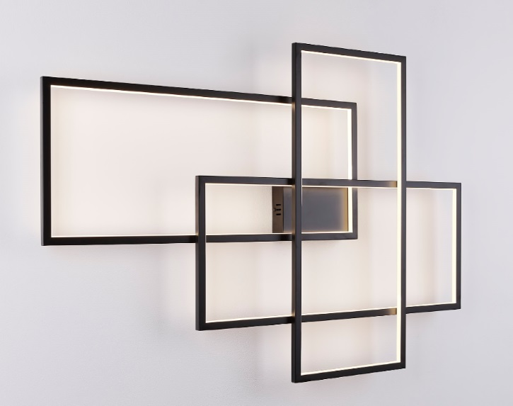 Nástěnné svítidlo Maxlight Geometric, černý, W0216