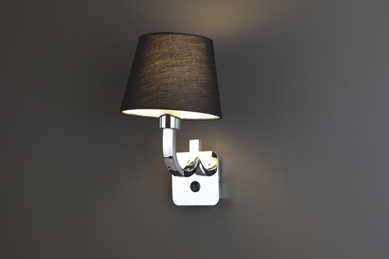 Nástěnné svítidlo Maxlight DENVER, černé, W0190