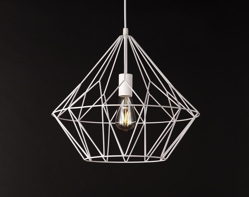 Závěsné svítidlo Maxlight BELL II, velké, bílé, P0212