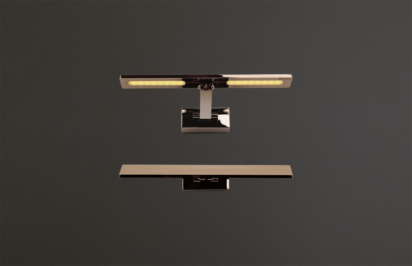 Nástěnné svítidlo Maxlight Panama S, nikl, W0110