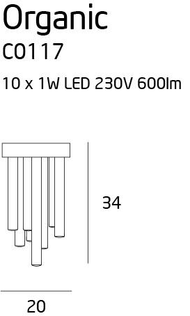 Stropní svítidlo Maxlight Organic chrom malé, C0117